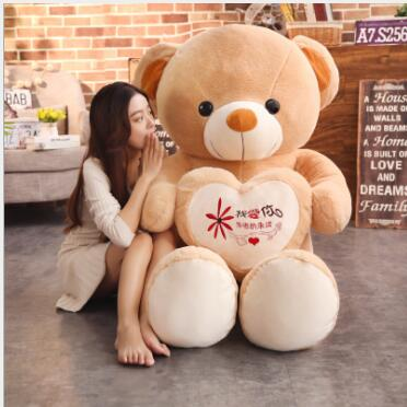 WYZHY Doll confession bear doll girl birthday gift cute sleeping pillow bear plush toy to send girlfriend 60CM in Stuffed Plush Animals from Toys Hobbies