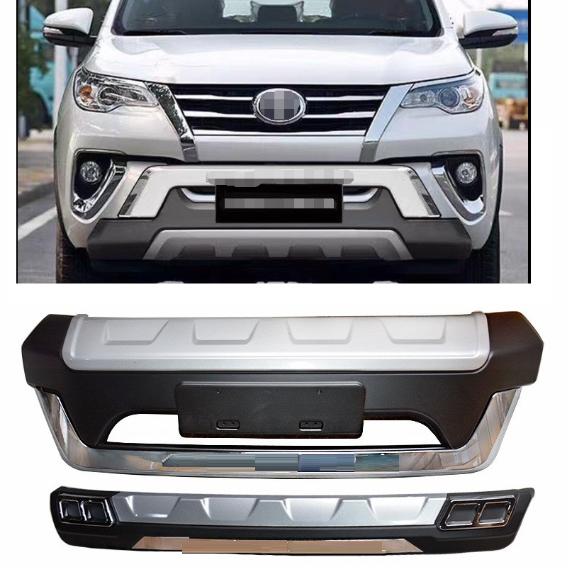 CITYCARAUTO AUTO ACCESSORIES EXTERIOR FRONT BUMPER REAR BUMPER COVER FIT FOR FORTUNER 2015-2018 4*4 CAR EXTERIOR PARTS