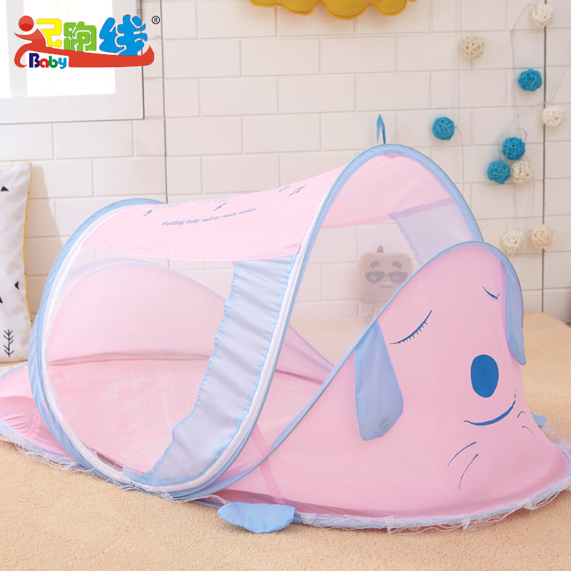 Cute Dog Duck Cartoon Mosquito Net For Babies Boys Girls Safety Baby Mosquito Bet Cradle Canopy For Bed Suit 0~5 Years Old Baby