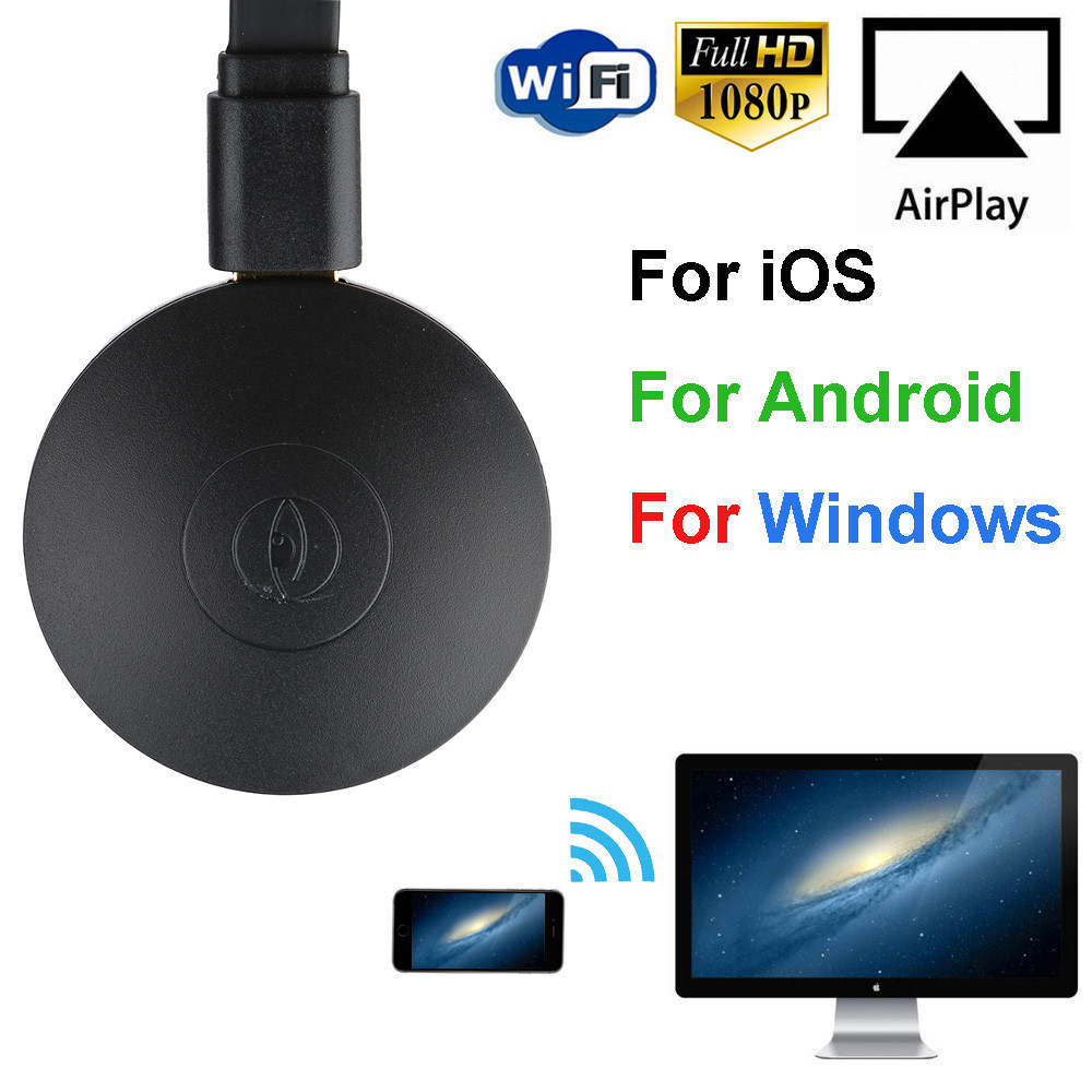 Miracast 1080P WiFi Display TV Dongle Wireless Receiver HDMI AirPlay DLNA Share Maximum Video Resolution 1080p Drop Shipping ...