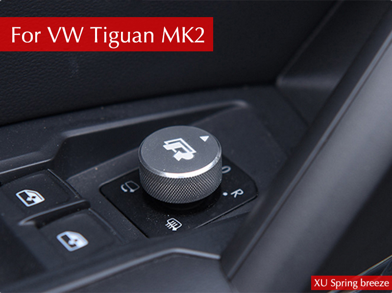 For VW tiguan MK2 2016 2017 2018 Car Rearview Mirror Adjustment Knob Switch Cover Internal Decoration Car-cover Car Styling shoes woman 12cm high heels gold shoes women pumps pointed toe ladies wedding shoes thin heels glitter shoes zapatos mujer f 008