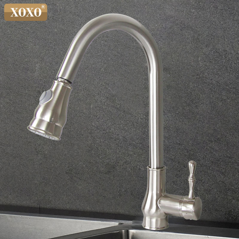 Xoxo Kitchen Faucet Brass Brushed Nickel High Arch Kitchen Sink