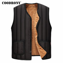 COODRONY Jackets Men 2017 New Arrivals Winter Thick Warm Men's Down Jackets Casual Sleeveless Vest Coat Men With Wool Liner 7810(China)