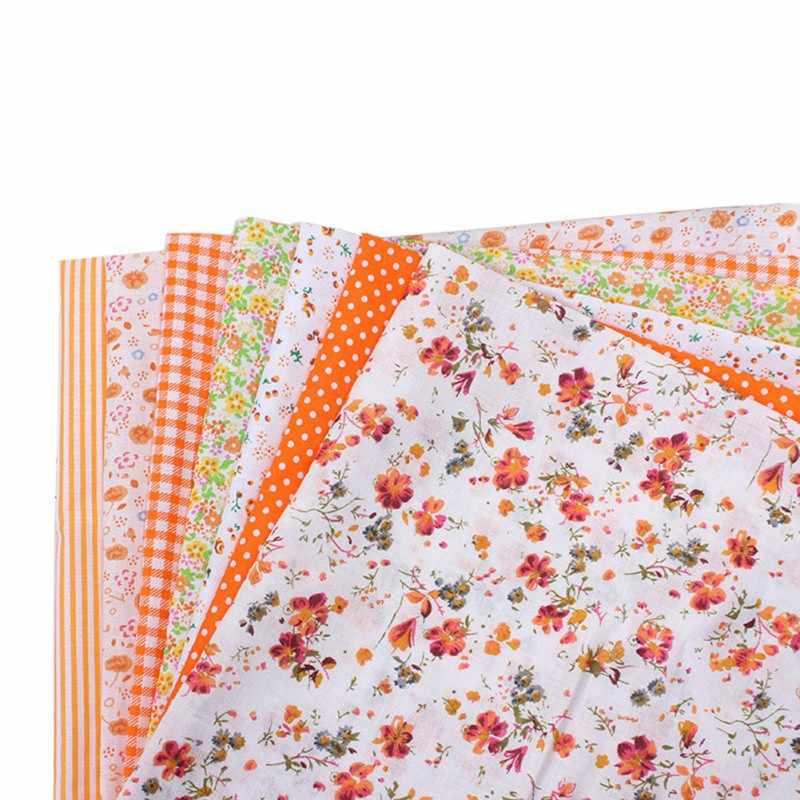 7 ألوان مختلطة القطن النسيج الحرف مجموعة الخياطة اللحف 25x25 Cm خليط Diy حلو الأزهار نمط خليط