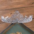 Luxury fashion bridal flame Zircon crown wedding headdress hair accessories wedding dress with jewelry crown headdressWHG094