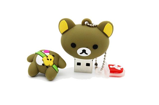 Lovely baby bear pendrive key chain pen USB stick
