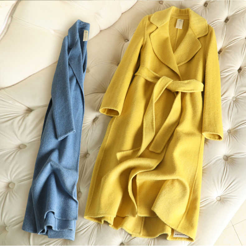 2019 long double cashmere Winter Coat Women jacket autumn and winter new arrival 9colors