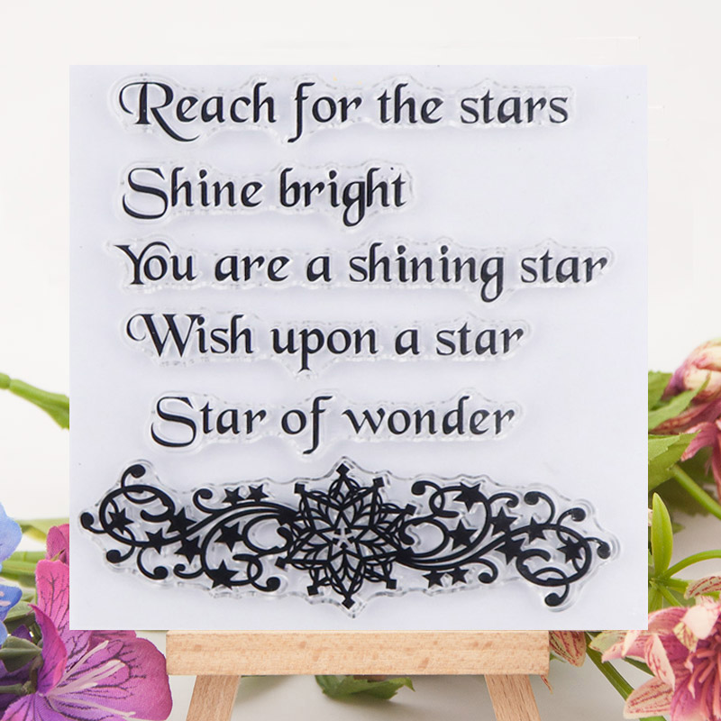 NEW Wish Upon a Star Stainless Steel Stencil card making scrapbook