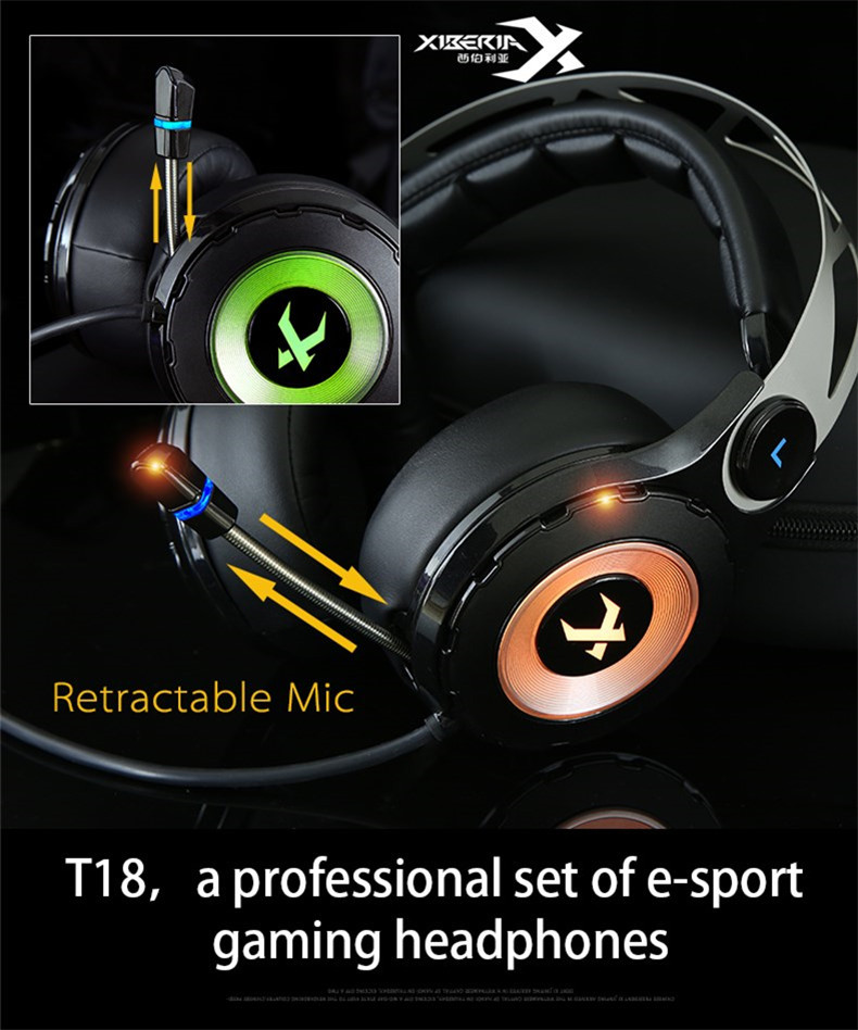 XIBERIA T18 Stereo Gaming Headphones with Microphone 7.1 Surround Sound Deep Bass Gamer Headset for Computer Best casque (21)