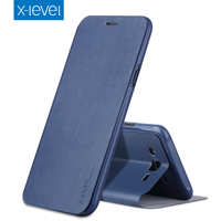 X Level Business Style PU Leather Flip Phone Case For Samsung Galaxy J7 2015 Luxury Stand