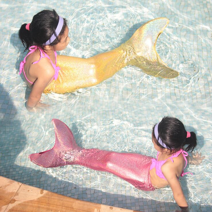 Sirène enfants maillot de bain flash avec ailettes mylemermaid enfants plongée gratuite palmes sirène maillot de bain