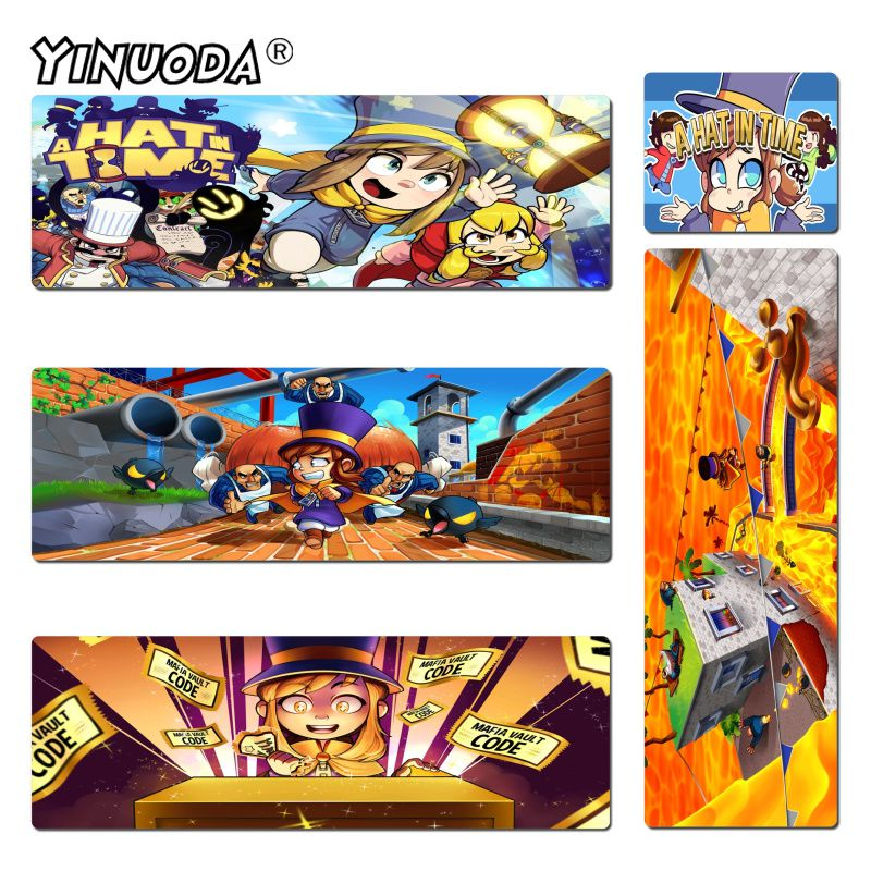 Yinuoda Hot Sales A Hat in Time Keyboard Gaming MousePads Size 18x22cm 20x25cm 25x29cm 30x60cm 40x90cm