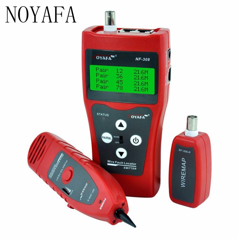 Noyafa NF-308 Multi-écran Lcd Réseau Téléphone Cable Tester Tracker Ligne Finder Fil Testeur Câble Localisateur