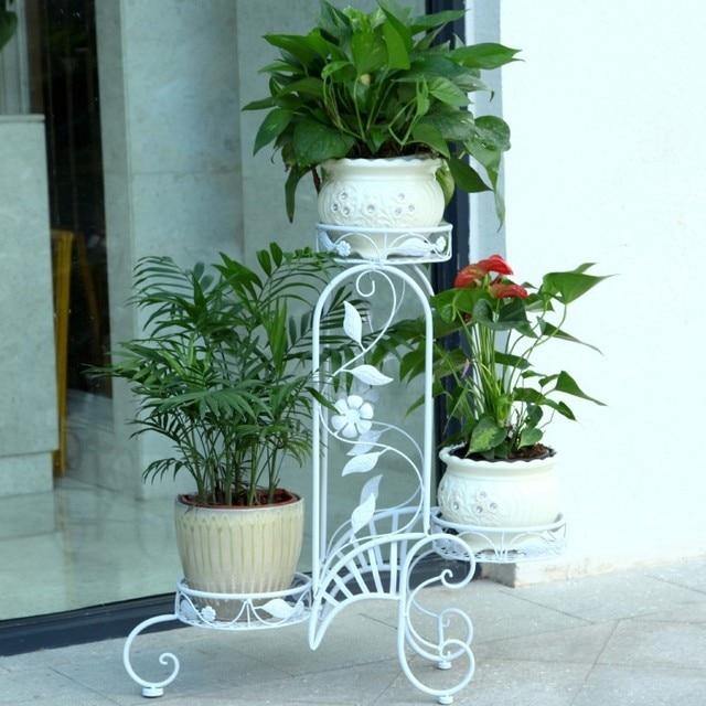3 pots european balcony and indoor flower pot holder garden flower ...