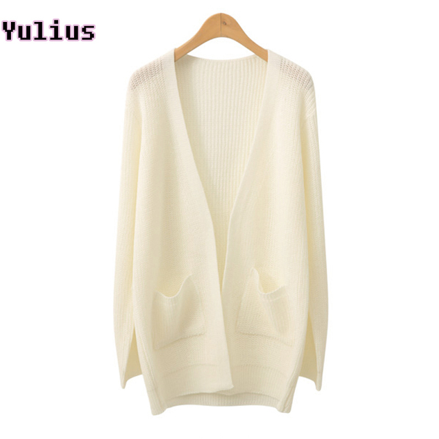 Long Knitted Cardigans 2018 Fashion Women Knit For Fall Womens