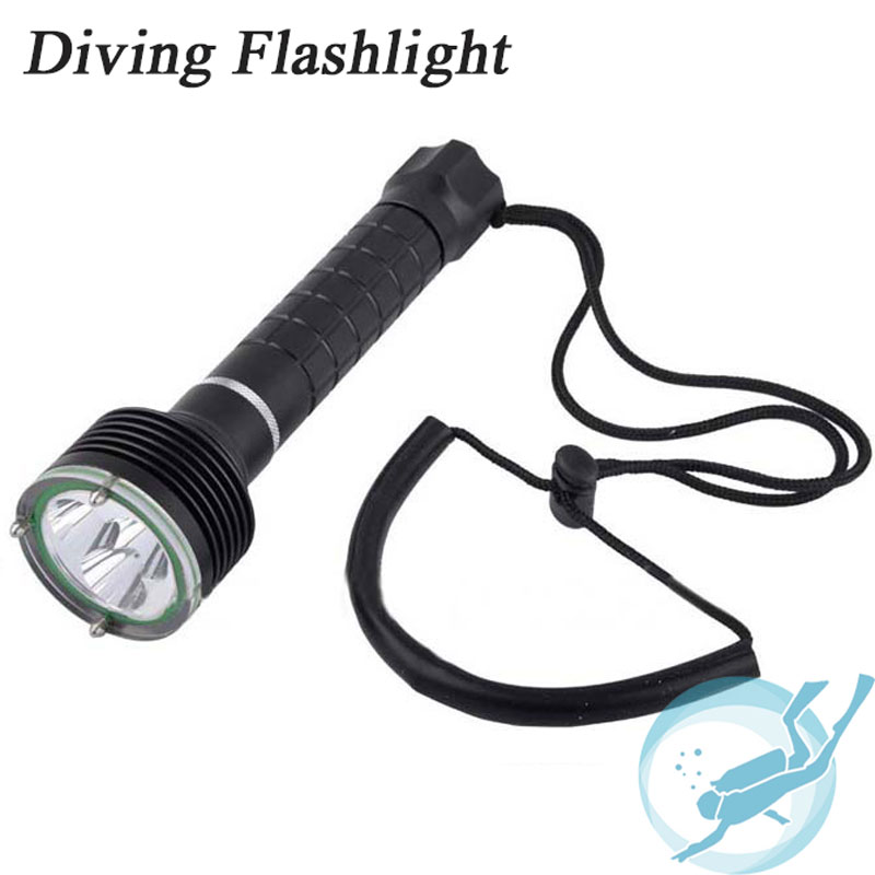 Diving Flashlight 3x CREE XM-L2 Torch 3800LM Underwater 100M Waterproof Light Led Flash Light