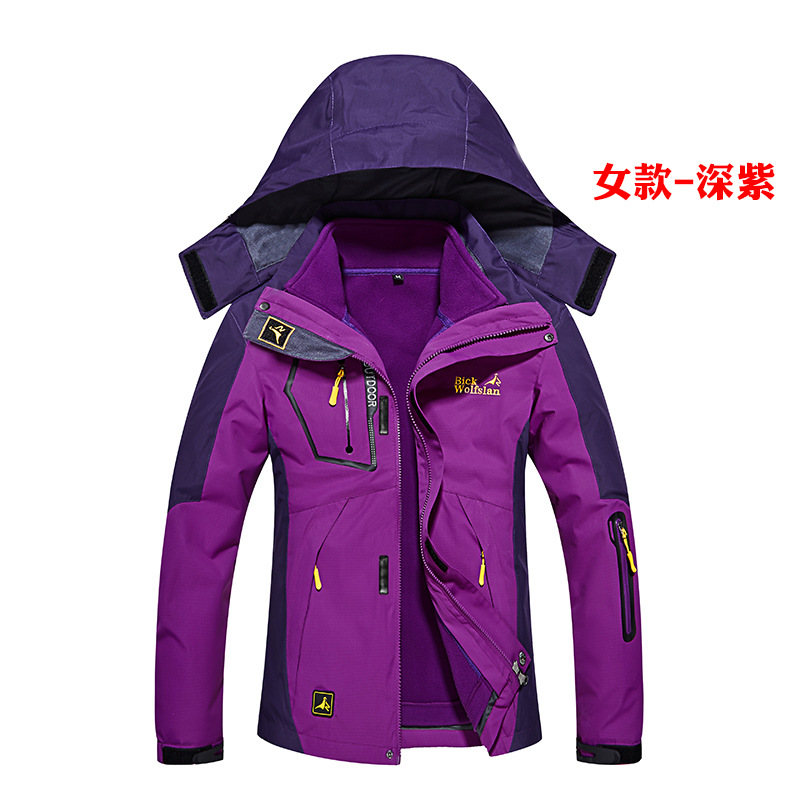 ФОТО 3 In 1 Men's Thermal Hiking Jacket Winter Camping Clothes Mountaineering Jacket Outdoor Waterproof Windstopper Hunting Clothes
