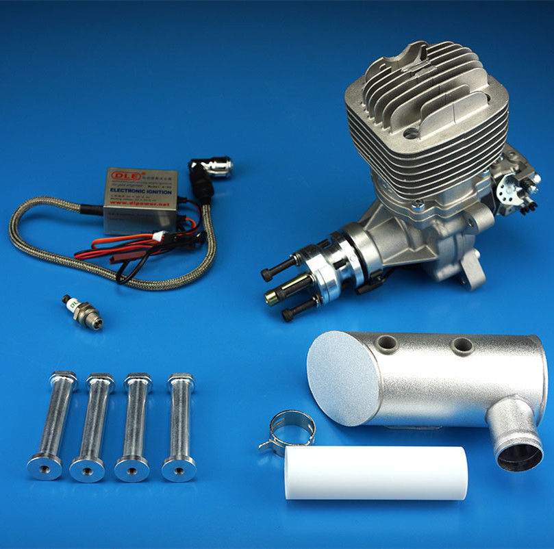 DLE61 61cc Engine For Gas RC Airplane W/ Exhaust & Ignition 6HP/7500rpm 1400 rpm/m