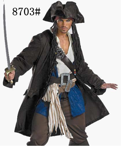Customized Pirates Of The Caribbean Captain Jack Sparrow Cosplay Costume Halloween Party Pirate Cosplay Costume kids halloween costumes cosplay caribbean pirates costumes captain jack children role playing children party clothes