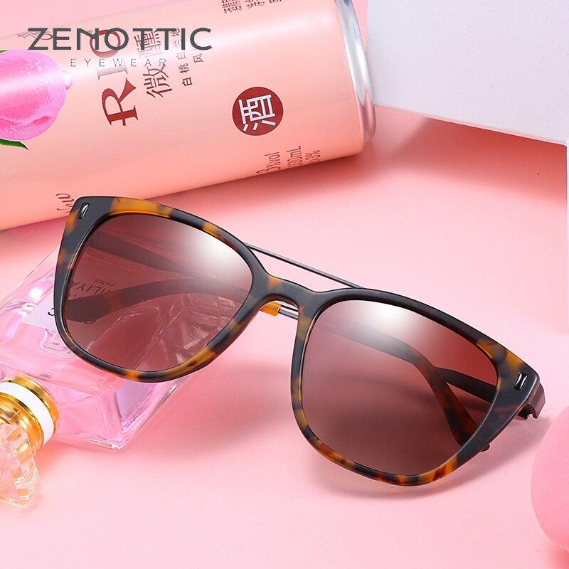 ZENOTTIC lunettes de soleil polarisées femmes tortue cadre lunettes Anti-réfléchissant mode lunettes lunettes pour femme Polaroid lentille BT6306