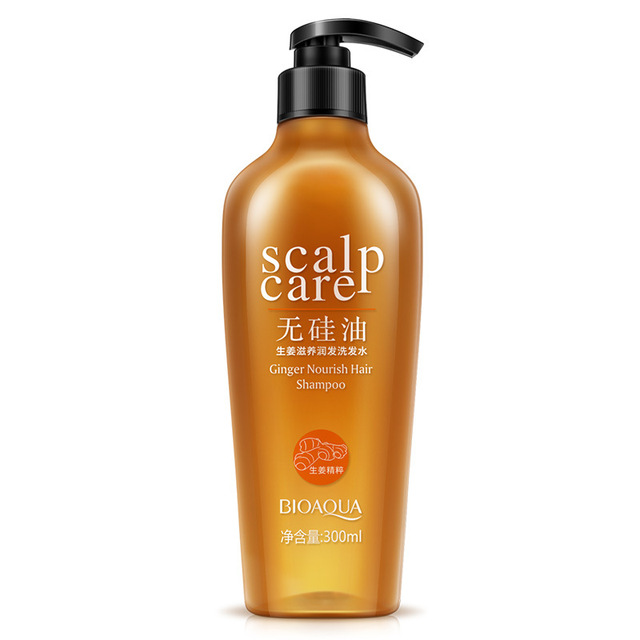 BIOAQUA Natural Ginger Nourishing NO Silicone Oil Hair Shampoo Salubrious Oil-control Refreshing Anti Itch Anti Dandruff 300ML