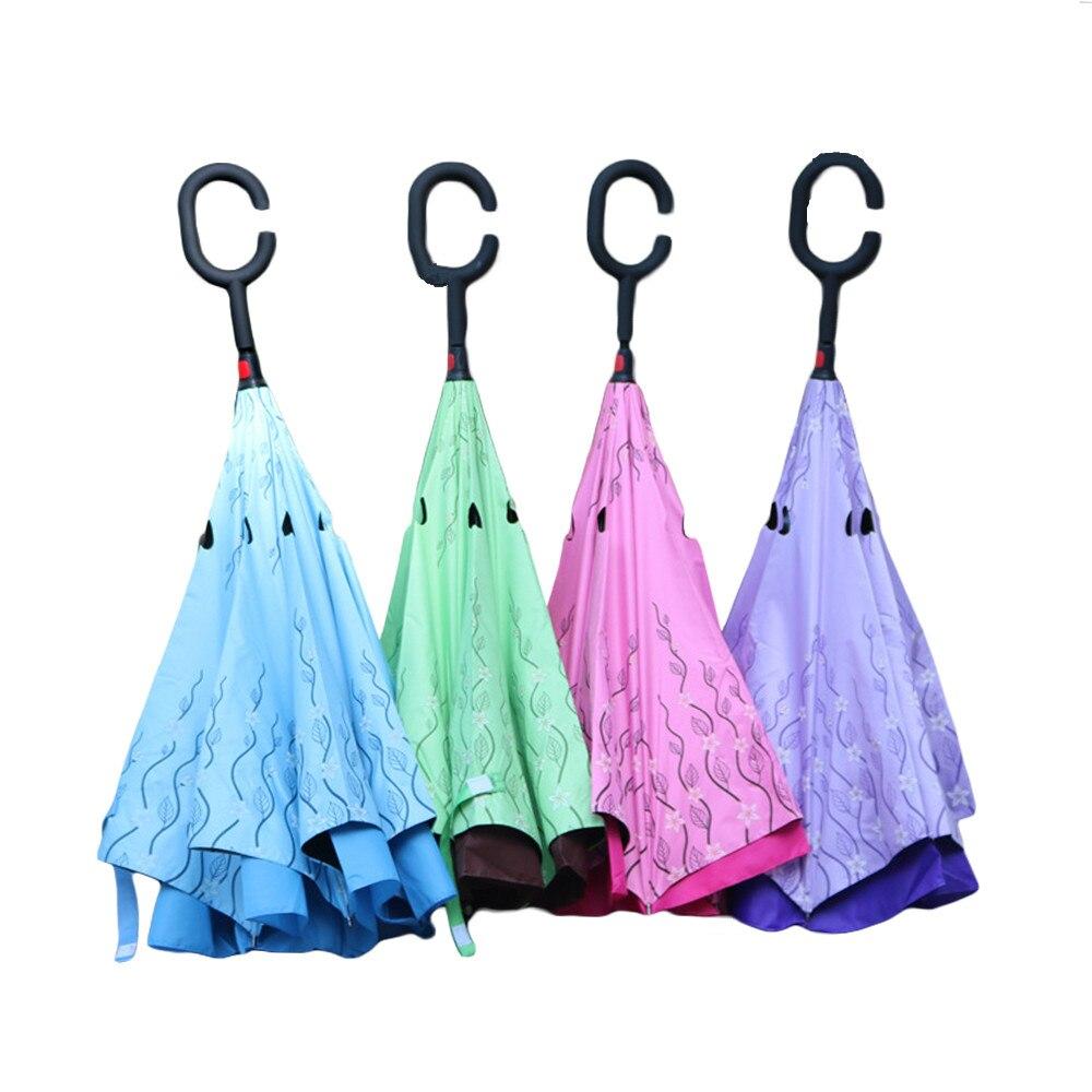 Kétrétegű összecsukható fordított esernyő, új, szélálló - Háztartási árucikkek - Fénykép 1