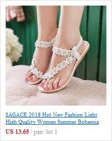 HTB1gbdErSBYBeNjy0Feq6znmFXad SAGACE 2018 Summer Open Toe Chunky Heels Women Sandals Leather Rhinestones Party Shoes Girls Crystals Casual Beach Flip Flops