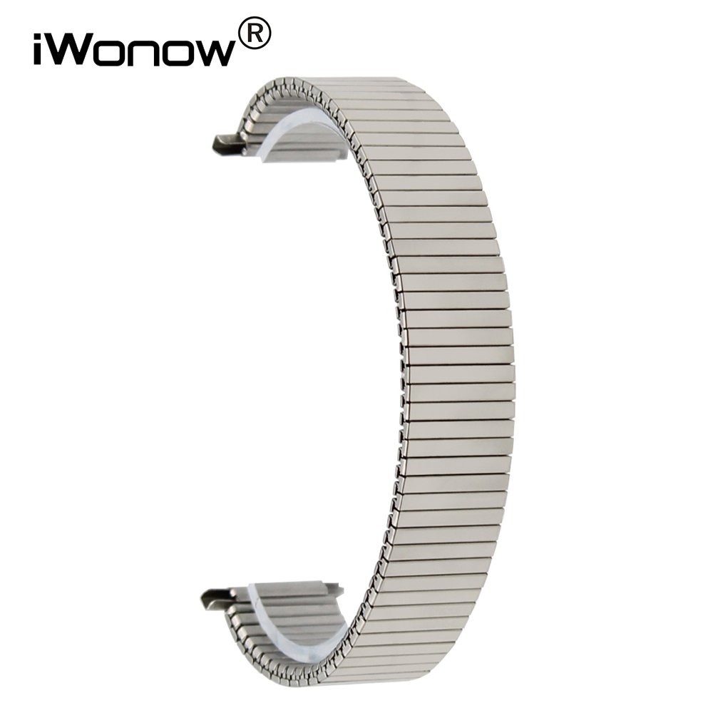 Elastic Watchband 18mm 20mm for DW Daniel Wellington Watch Band Stainless Steel Strap Wrist Bracelet Silver + Spring Bar + Tool