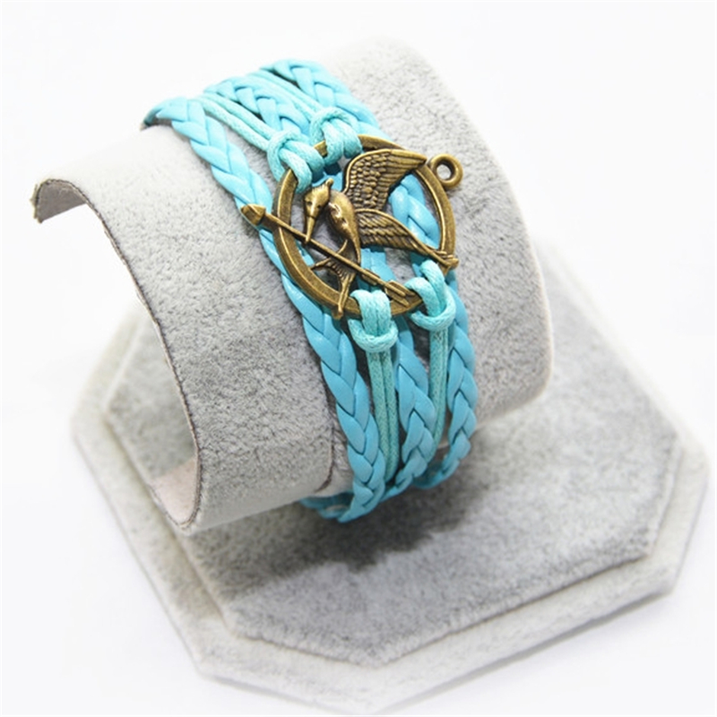 L0195 New Hot 2016 Popular Multilayer Braided Bracelets Vintage round bird Multicolor Woven Leather Bracelet Bangle girl - BILL JEWELRY CO,.LTD Min order $8 store