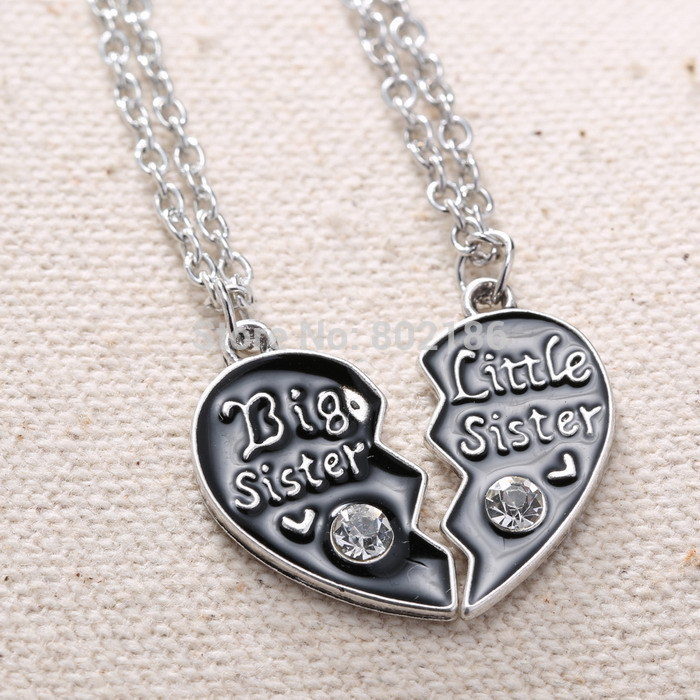 2p sisters pendant necklace broken heart puzzle jewelry handstamped 2p sisters pendant necklace broken heart puzzle jewelry handstamped personalized gifts charms couple necklaces in pendant necklaces from jewelry aloadofball Image collections