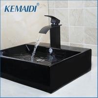 OUBONI Black Only The Ceramic Washbasin Vessel Lavatory Basin Bathroom Sink Bath Combine Brass Vessel Vanity