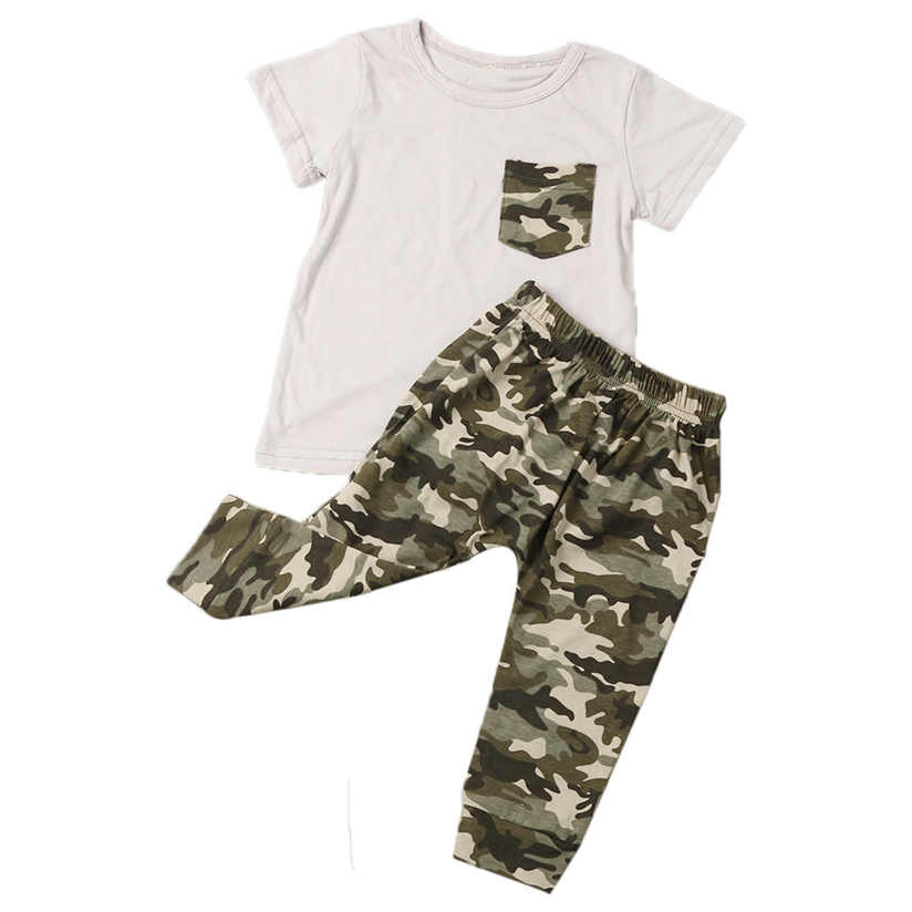 Baby suits Legging pants Newborn Infant Summer Baby Boy T shirt Tops Camouflage Pants Outfits Clothes Set with High Quality AP26 legging tight pants sport suit 1set fashion baby girls print t shirt legging pants set kids clothes outfits free shipping ap26