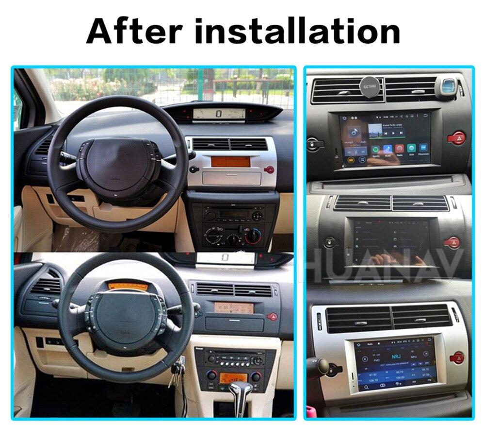 DSP Android 9 GPS Navigation Car DVD Player For Citroen C4 Quatre Triumph 2004-2012 Autoradio Stereo Player Head Uint Multimedia