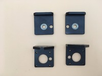 DIY Reprap Prusa i3 rework 3D printer aluminum metal black color Z AXIS BOTTOM left right +TOP LEFT RIGHT kit set for 8mm