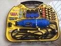 Ferramentas Elétricas Mini Broca Dremel Ferramentas Rotativas acessórios com 211 pcs discos de corte de brocas lixa de eixo flexível
