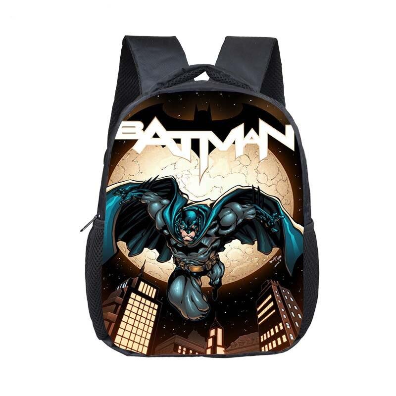 12 Inch Super Hero Batman School Backpacks Kindergarten Book Bag Casual Children School Bags Mochila Infantil