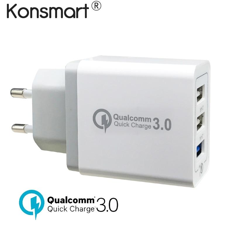 Gyors töltés QC 3.0 USB gyors töltő iPhone X XS 6 6S 7 8 plusz - Mobiltelefon alkatrész és tartozékok
