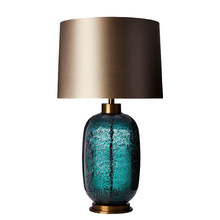 Modern Simple Creative Table Lamps Gray-green Glass Crystal Villa Living Room Bedroom Studio Model