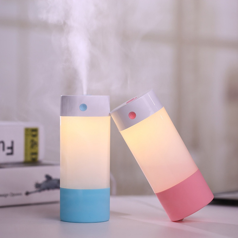 Ultrasonic Air Humidifier Essential Oil Diffuser 4 Color With Lights Electric Aromatherapy USB Humidifier Car Aroma Diffuser