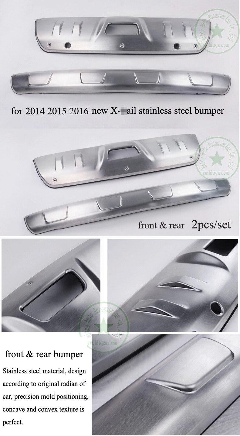 Para Nissan X-Trail 2008-2013 juego de placas de pasos laterales correr tipo 3