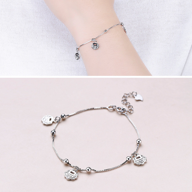 Factory Direct Sales S925 Sterling Silver Beads Beads Wishful Lock Bracelet Korean Jewelry Factory