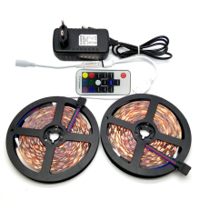 10M SMD 5050 RGB LED Strip Set 60LED/M Home Decoration Lighting Flexible Tape 17Keys RF Controller 12V 3A Power Adapter