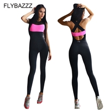 Women Tracksuit Fitness Sport Suit Yoga Set Backless Gym Running Set Sportswear Leggings Tight Jumpsuits Workout Sports Clothing цены