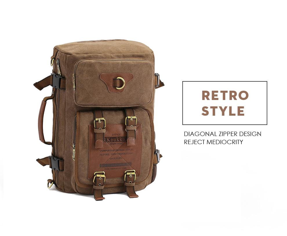 Marke Stilvolle Reise New vintage rucksack canvas backpack leisure travel schoolbag unisex laptop backpacks men backpack male 4