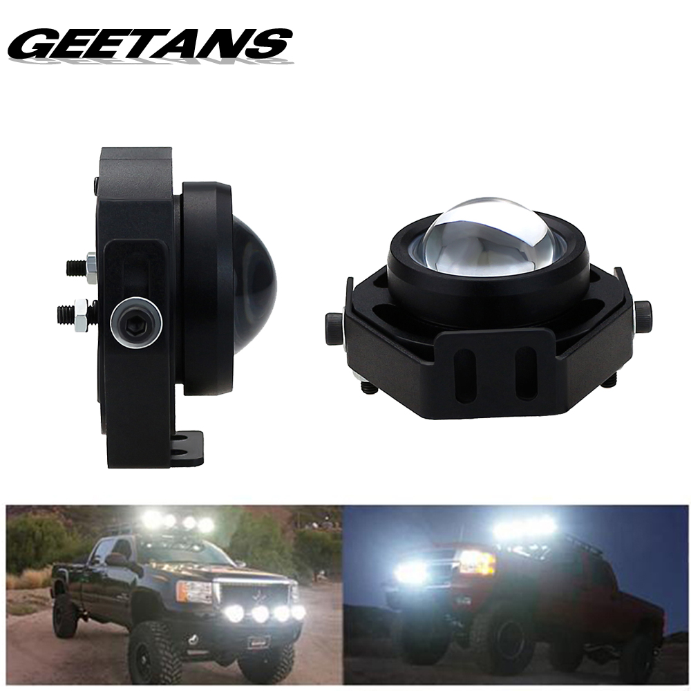Geetans 2pcs lot car spot flood worklight head lamp truck motorcycle off road fog