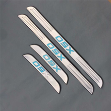 Stainless steel door sill strip for LIFAN X50 Threshold trim car styling welcome pedal Scuff plate cover film stickers stainless steel door sill strip for chevrolet captiva 2013 14 16 threshold trim car styling welcome pedal scuff plate cover film