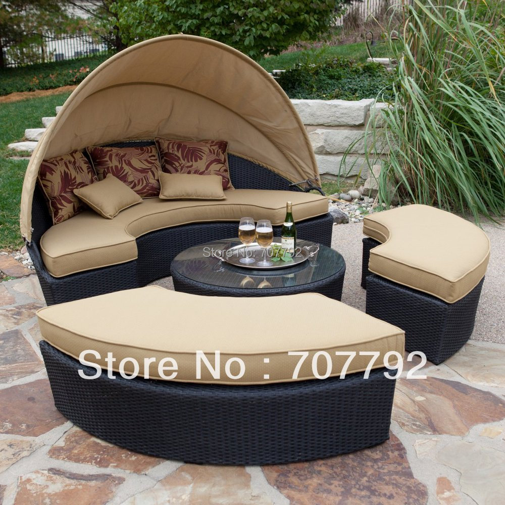 Rattan sofa beds rattan sofa bed garden furniture outdoor for Wicker futon sofa bed