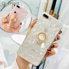 Luxury Ring Stand Holder Case For iPhone 6 6s 7 8 Plus Dream Shell Phone Case For iPhone X XR XS MAX IMD Silicone TPU Back Cover цена и фото