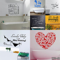 Bathroom Rules Home Decoration Creative Quote Wall Decals Decorative Adesivo De Parede Removable Vinyl Wallaper