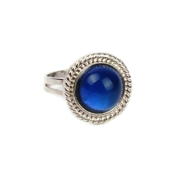 Fine Jewelry Sun Mood Ring Temperature Change Color Mood Rings for Women Men Fin